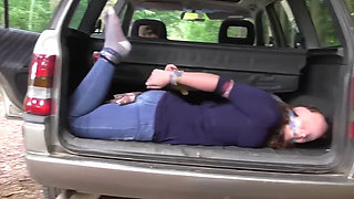 Tied in car