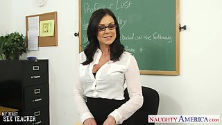 Fucking awesome teacher Kendra Lust is fucking her favorite student Johnny Castle