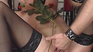The slave mature slut with small tits