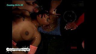 Incredible pornstar in Amazing Black and Ebony, Bukkake porn clip