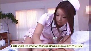 Risa Kasumi innocent Chinese nurse does blowjob