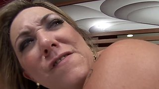 Curvy Latina mom gets her big booty destroyed in a closeup