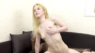 Petite Blonde Babe Sweetie Gets Deep Anal and Juice from a Big Black Dick
