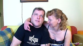 Real German Mature Couple get First Threesome with Stranger