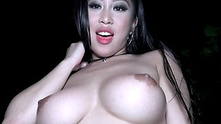 Asiatic darling with a terrific ass gets screwed in POV