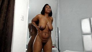 Big Titty Ebony MILF With Sweet Nips