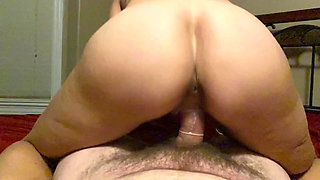 Slow motion POV reverse cowgirl