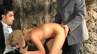 Remastered Classics - Pretty Blonde Gets Dp In Prison With Judith Kostner