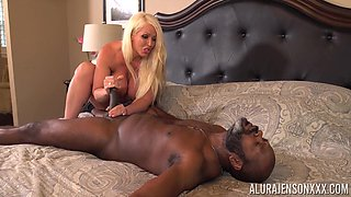 Only one thing pleases Alura Jenson, and that is playing with a black dick