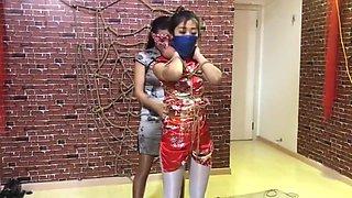Bondage Having Fun Chinese Scarf Bondage