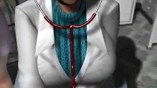 3d toon female nurse n doctor