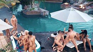 Aaliyah Hadid & Ashley Adams & Bridgette B & Gina Valentina & Karma Rx & Katrina Jade & Kira Noir & Kissa Sins & Lela Star & Lena Paul in Brazzers House 3: Episode 1 - BRAZZERS