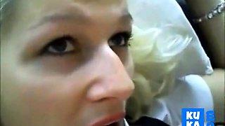 blonde bride maid get hot warm cum nutting in her mouth