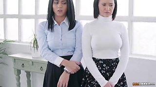 Aysha And Apolonia Lapiedra In Lesbian Sisters Tested By Mother Superior
