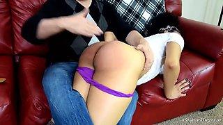 Ebony girl spanked