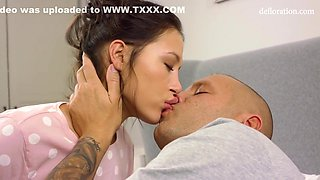 Angelina Dalye And Thomas Stone In Hardcore Defloration Of By Big Cock