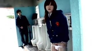 Japanese Student Angel  Public Crapper