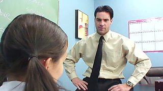 Sweet office fuck with skinny asian