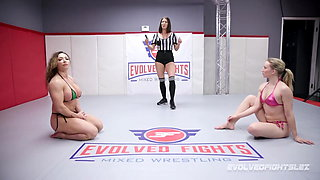 Brandi Mae vs Riley Reyes naked rough wrestling fight