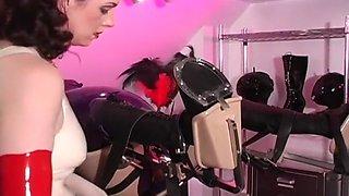 Mistress Lady Amanda Breaks Her Pony In