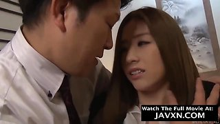 Japanese Secretary Pleased Older Boss With Pussy Fuck