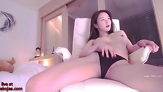 Korean stunning camgirl wearing sexy lingerie