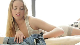 Lascivious russian Milana Fox gets body caressed well