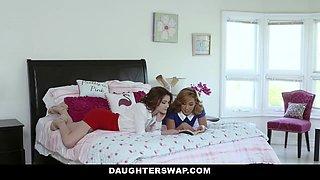 Piper Palmer & Rosalyn Sphinx & Allesandra Snow & Ryder Skye In Sexy Milfs Swap Their Aggressive Teen Slut Daughters