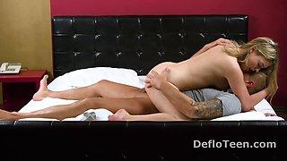 Sexy virgin Anna Palatka cums while riding a cock