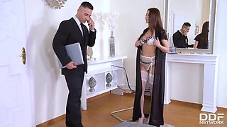 Young Secretary Sybil Kailena Commanding Her Obedient Boss