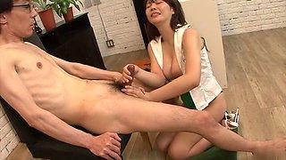 Amazing Japanese chick Karen Natsuhara in Hottest JAV uncensored Cumshots clip