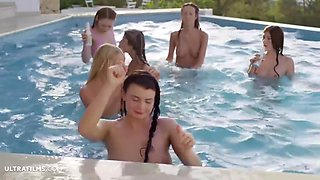 Eveline Ester And Having A Great Time By The Pool - Gina Gerson And Kiara Lord