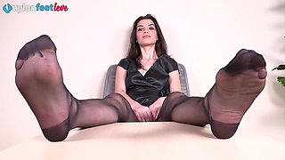 Two Italian dommes humiliate you while wearing pantyhose