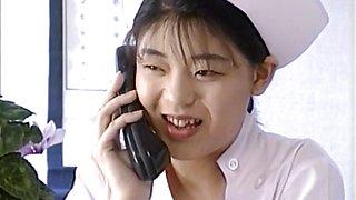 Eri Ueno sexy nurse is fucked on hospital bed