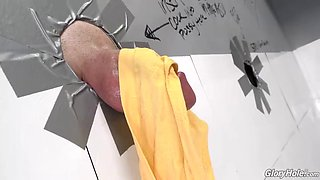 taking a peak at the gloryhole made these girls want to fuck even more