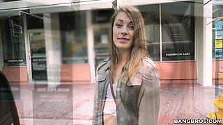 Kirsten goes Wild on a Spring Break Bus Ride - BangBus