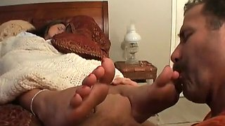 Sleepy Foot Fetish &amp Foot worship Assault 16