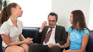 Sweet schoolgirl gets seduced and rode by older schoolteache