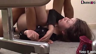 Japanese girl forced in office room