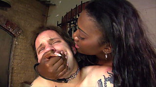 Milked in the dungeon of the black sex goddess!