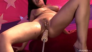 angelica love to fuck machines hardcore in this close shoot