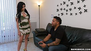 Quickie fucking in the kitchen with cheating wife Kitty Caprice