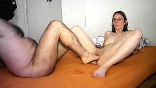 Girl gets fisted and foot fucked
