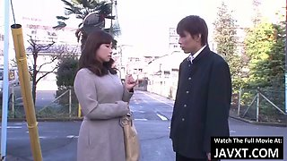 Hot japanese milf fucked by boss