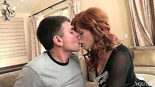 Hot redhead maid needs cock
