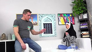 Woman in Hijab gets punished by angry husband
