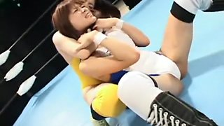 Lesbian tag team wrestling APT-03