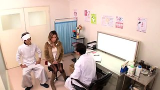 Stunning Japanese wife has a horny doctor drilling her pussy
