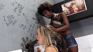 Daizy Cooper and Carmen Valentina Discover BBC - Gloryhole