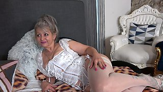 Old vs young porn video with horny mature Veronique in lingerie
